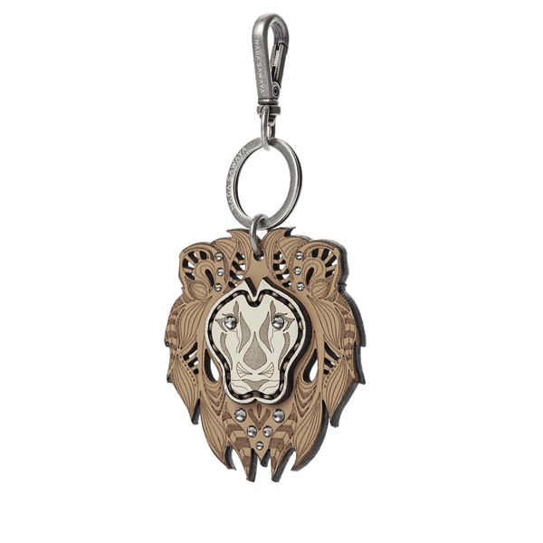 FL by NADA SAWAYA Bag Charm Tan / Lamb Lion Laser Cut Leather Charm