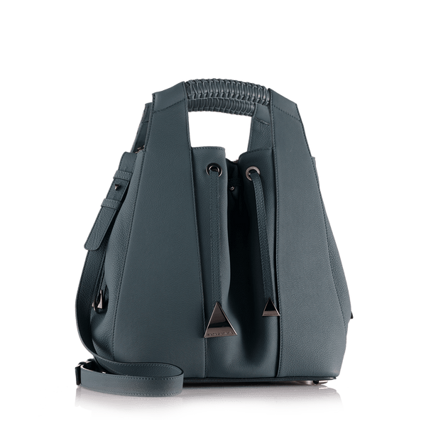FL by NADA SAWAYA Bucket bag Teal Blue Leah - Large Calfskin Bucket Bag