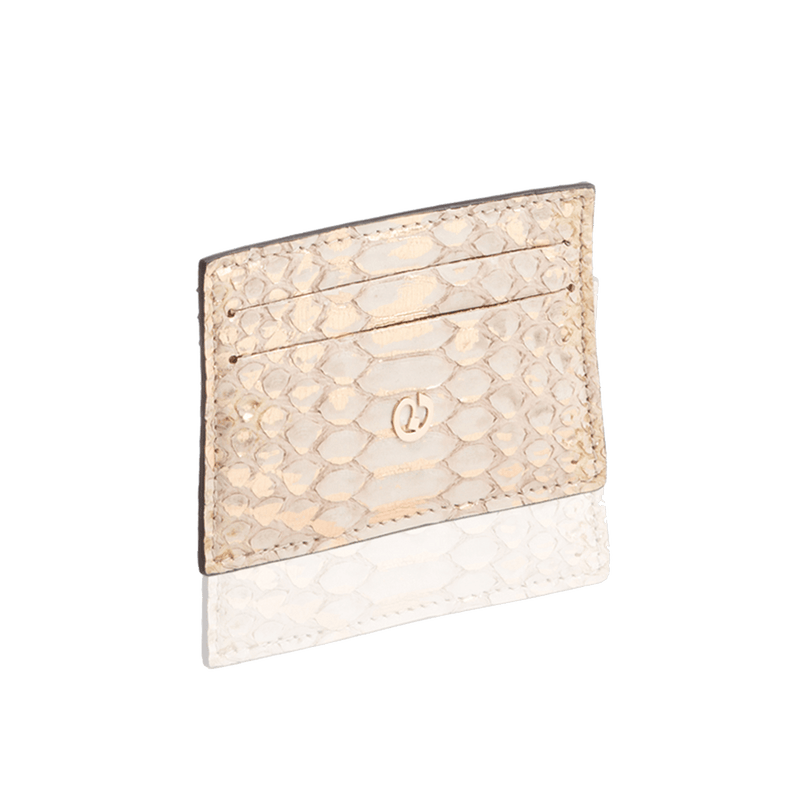 FL by NADA SAWAYA Credit Card Holder Python Card Case