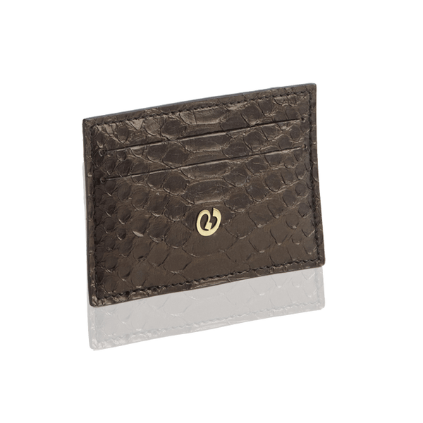 FL by NADA SAWAYA Card Case Black Python Card Case