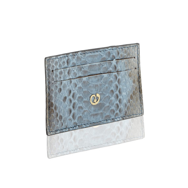 FL by NADA SAWAYA Card Case Blue Jeans Python Card Case