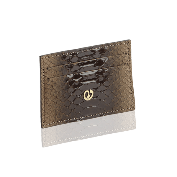 FL by NADA SAWAYA Card Case Coffee Python Card Case