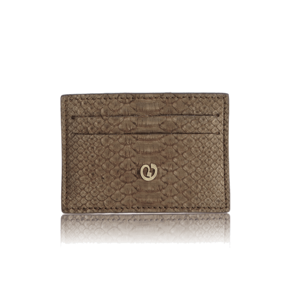 FL by NADA SAWAYA Credit Card Holder Coffee Python Card Case
