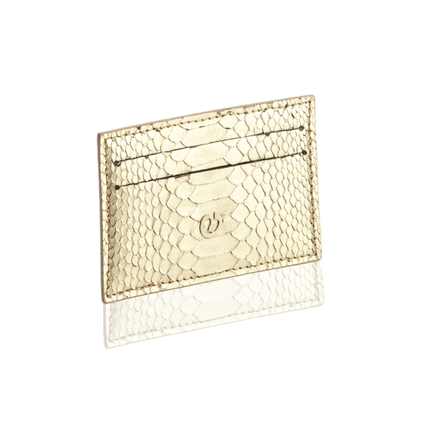 FL by NADA SAWAYA Card Case Gold Python Card Case