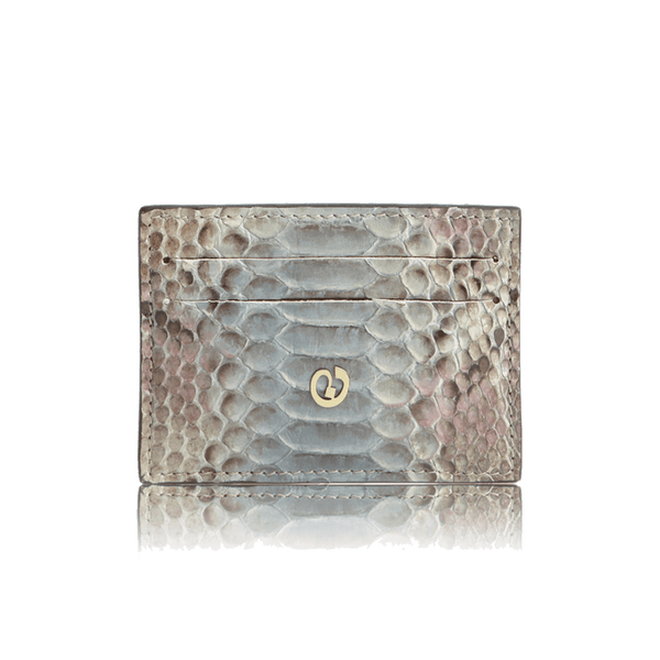 FL by NADA SAWAYA Credit Card Holder Light Blue Python Card Case