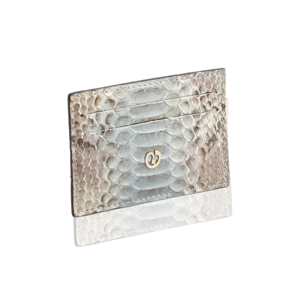 FL by NADA SAWAYA Card Case Light Blue Python Card Case