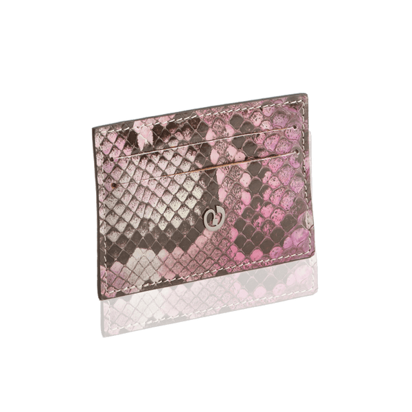 FL by NADA SAWAYA Card Case Purple Python Card Case