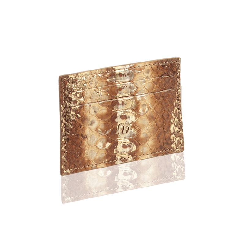 FL by NADA SAWAYA Card Case Tan Python Card Case
