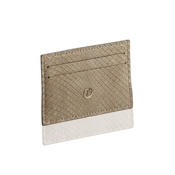 FL by NADA SAWAYA Card Case Taupe Python Card Case