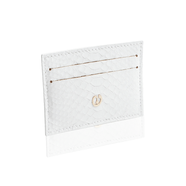 FL by NADA SAWAYA Card Case White Python Card Case
