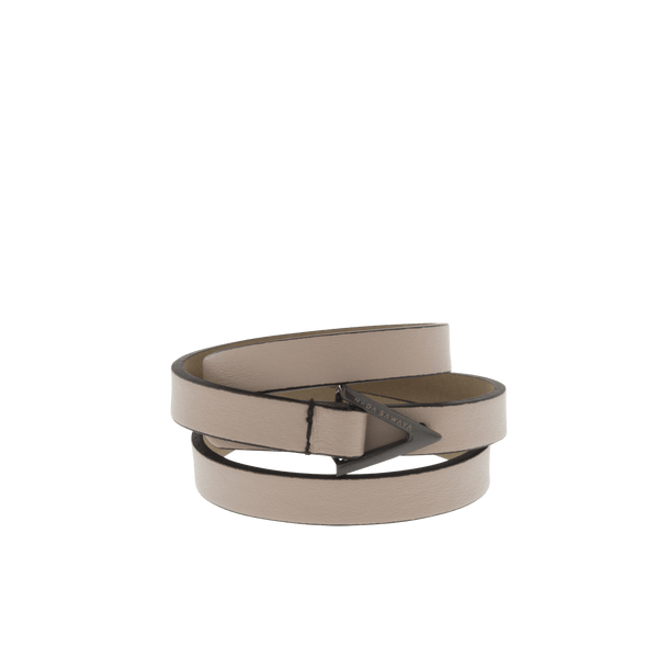 FL by NADA SAWAYA Fashion Jewelry Nude 3-Row Leather Wrap Bracelet