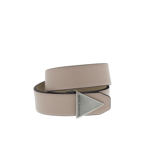 FL by NADA SAWAYA Fashion Jewelry Nude Double Wrap Leather Bracelet