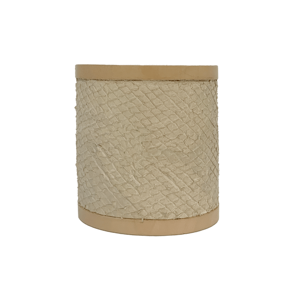 FL by NADA SAWAYA Fashion Jewelry Off-White Leather & Wood Cuff Bracelet