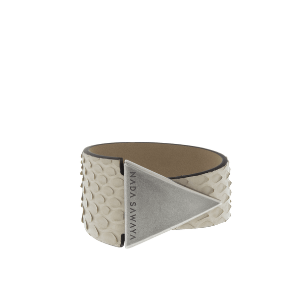 FL by NADA SAWAYA Fashion Jewelry Beige Python Bracelet
