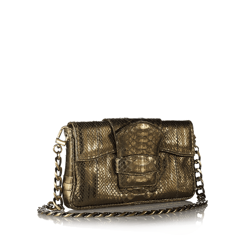 FL by NADA SAWAYA Flap bag Laminated python Zoe - Python Baguette Bag