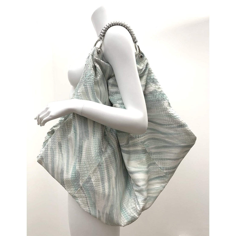 FL by NADA SAWAYA Hobo Off-White Gigli - Oversized Python Hobo Bag