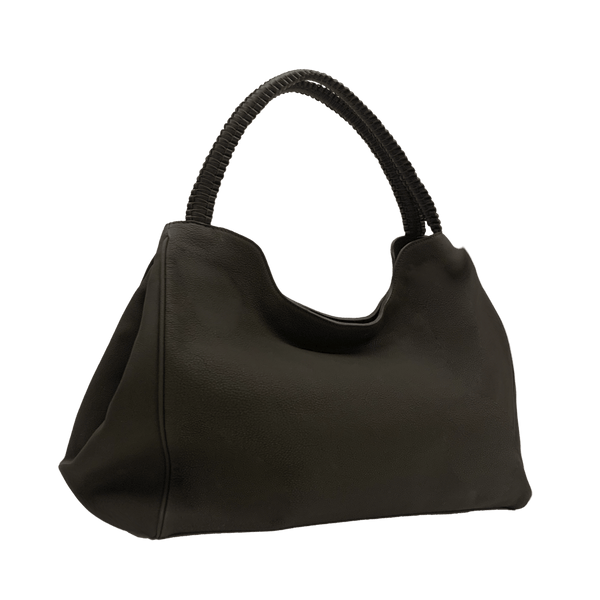FL by NADA SAWAYA Hobo Dark Brown Wynn Wynn - Large Calfskin Hobo Bag
