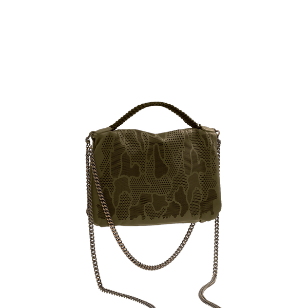 FL by NADA SAWAYA Mini Bags Bibi - Mini Laser Cut Leather bag - Camouflage Pattern