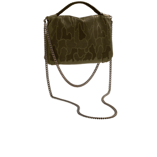 FL by NADA SAWAYA Mini Bags Olive / Antic brass Bibi - Mini Laser Cut Leather bag - Camouflage Pattern