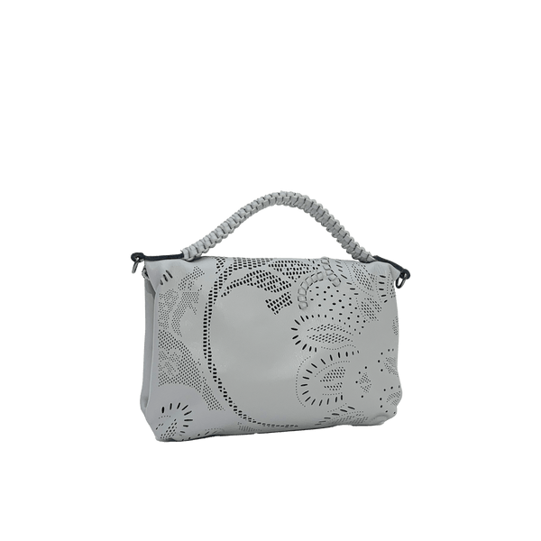 FL by NADA SAWAYA Mini Bags Bibi - Mini Laser Cut Leather bag - Floral Pattern