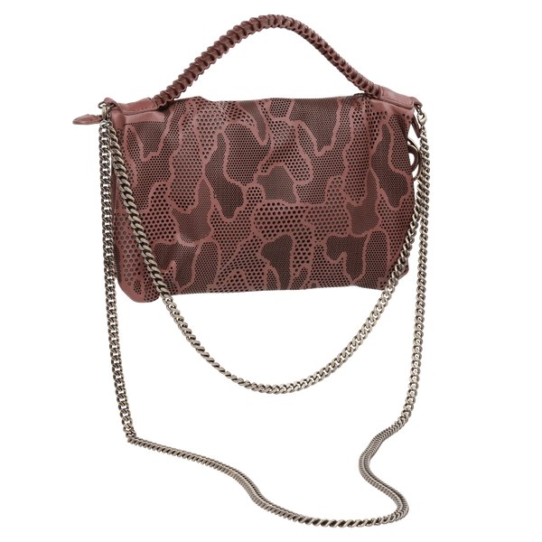 FL by NADA SAWAYA Mini Bags Cinnamon / Antic Brass Bibi - Small Laser Cut Leather bag - Camouflage Pattern