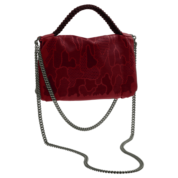 FL by NADA SAWAYA Mini Bags Red / Gunmetal Bibi - Small Laser Cut Leather bag - Camouflage Pattern