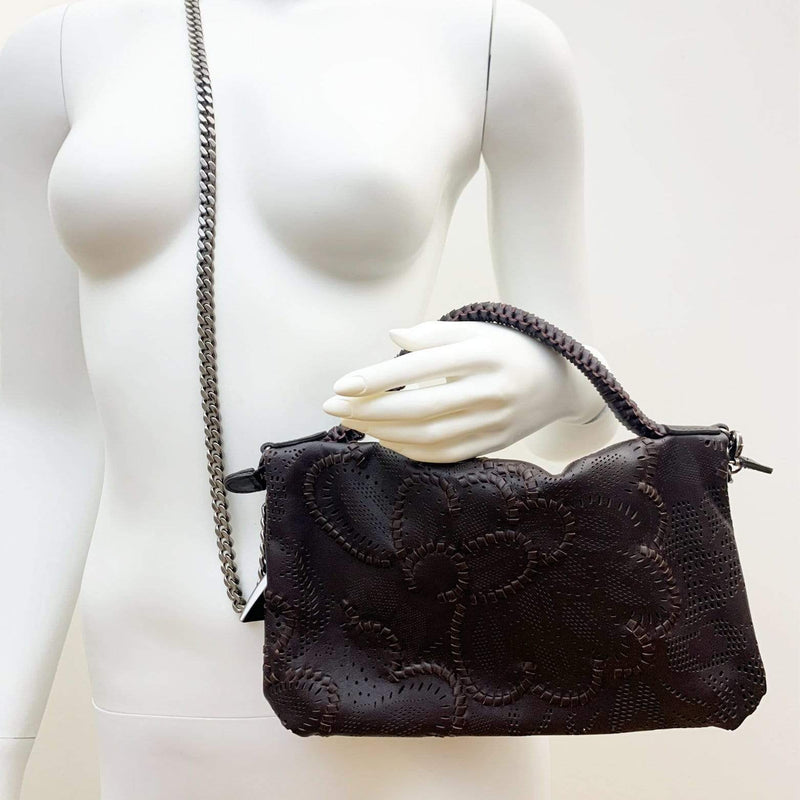 FL by NADA SAWAYA Mini Bags Bibi - Small Laser Cut Leather bag - Floral Pattern