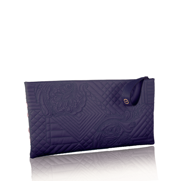 FL by NADA SAWAYA Pochette Purple Gigi - Embroidered Goatskin Pochette