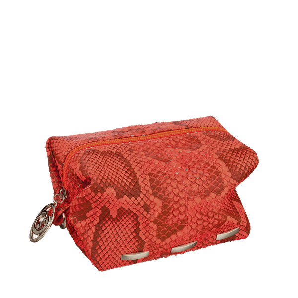FL by NADA SAWAYA Pouch Orange Cosmo - Python Pouch Bag