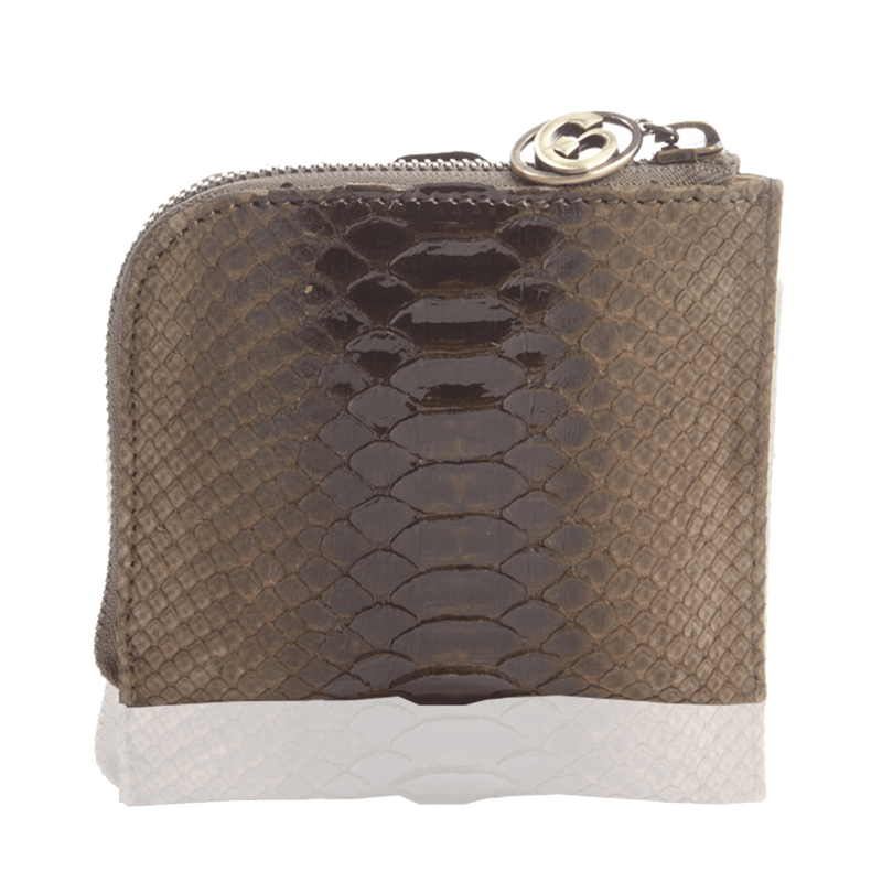 FL by NADA SAWAYA Wallet Small Square Zip-Around Python Wallet
