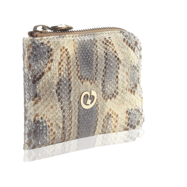 FL by NADA SAWAYA Wallet Multicolor Small Square Zip-Around Python Wallet