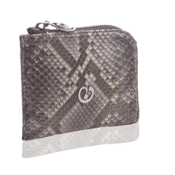 FL by NADA SAWAYA Wallet Rust / Light gold Small Square Zip-Around Python Wallet