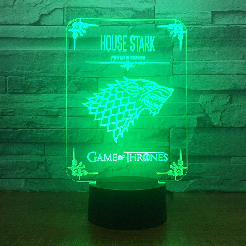 Stark Lamp Of Thrones House Wolf Led Acrylic Game nZNkP8X0wO