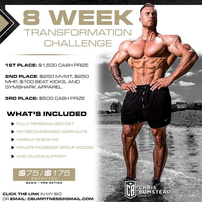 8 Week Transformation Challenge: Basic – $75, Pro – $175
