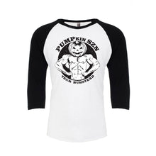 Load image into Gallery viewer, PUMPkin SZN Baseball Tee – Black/White