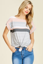 Load image into Gallery viewer, Knotted Striped Top