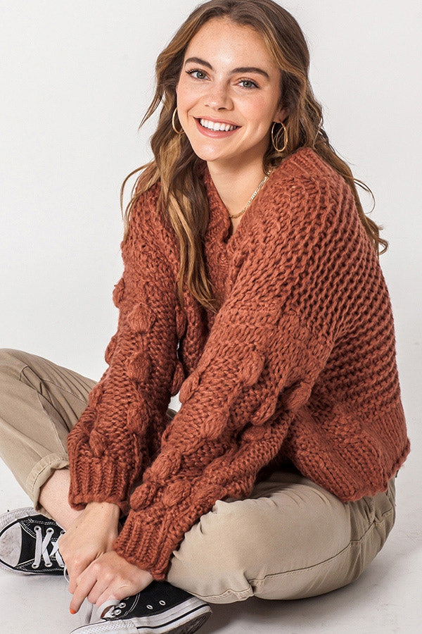 Brick Textured Sweater