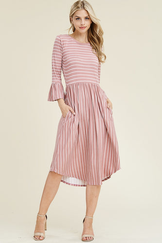 Mauve Stripe Dress