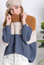 Load image into Gallery viewer, Color Block Stripe Sweater