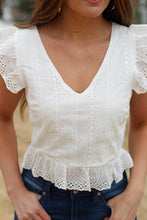 Load image into Gallery viewer, The Hanna Eyelet Top