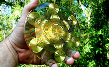 Load image into Gallery viewer, Metatron Cube - Golden Abundance Disk 6""