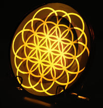 Load image into Gallery viewer, Flower Of Life - Golden Abundance Disk 6""