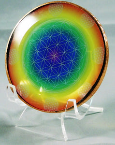 Rainbow Flower of Life Healing Disk
