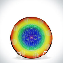 Load image into Gallery viewer, Rainbow Flower of Life Healing Disk