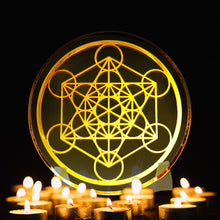 Load image into Gallery viewer, Metatron Cube - Golden Abundance Disk 3""