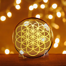 Load image into Gallery viewer, Flower Of Life - Golden Abundance Disk 3""