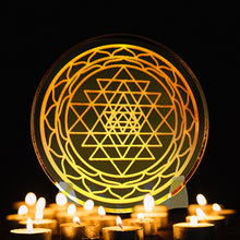 Load image into Gallery viewer, Sri Yantra - Golden Abundance Disk 6""