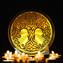 Load image into Gallery viewer, Tree of Life - Golden Abundance Disk 3""