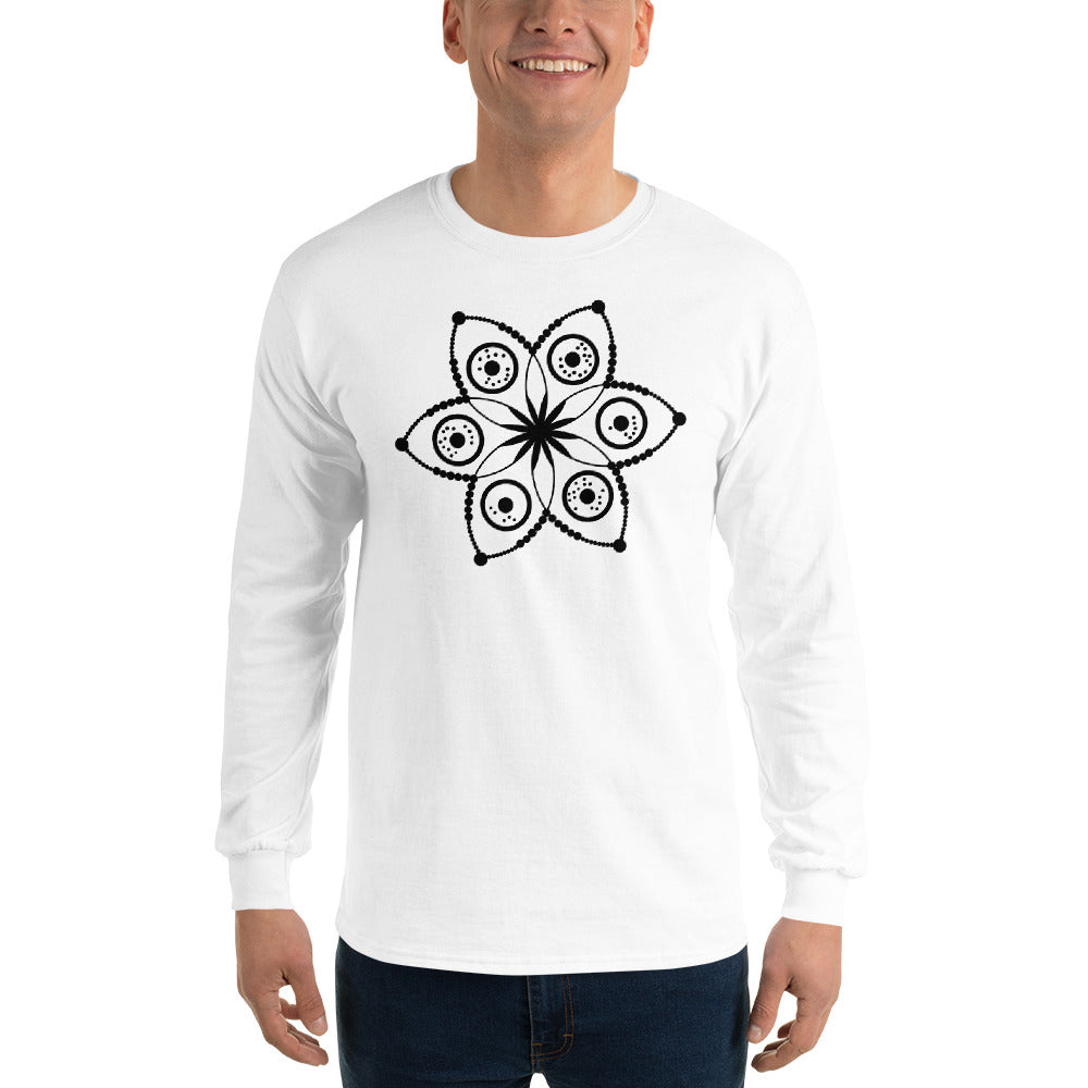 Anunnaki Communications E=MC2 Crop Circle Long Sleeve T-Shirt