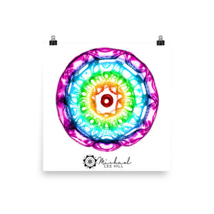 432 hz Photo paper poster